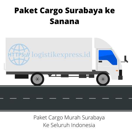 Paket Cargo Surabaya ke Sanana