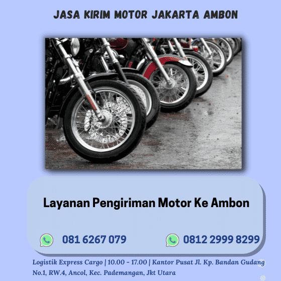 Jasa Kirim Motor Jakarta Ambon