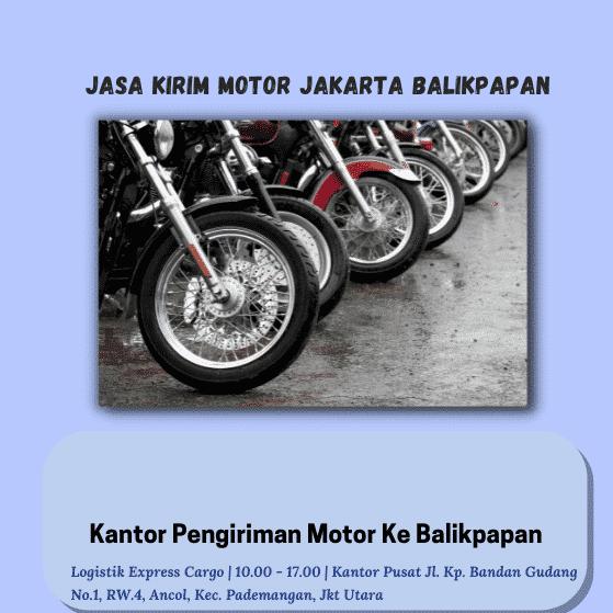Jasa Kirim Motor Jakarta Balikpapan