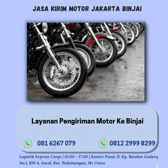 Jasa Kirim Motor Jakarta Binjai